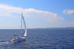 Sailing in Greece Royalty Free Stock Photography