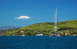 Sailing in Greece, exploring islands royalty free stock image