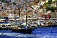 Sailing the Greek islands Royalty Free Stock Photo