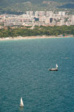 Sailing the Gulf of Varna in Bulgaria Stock Photo