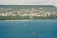 Sailing the Gulf of Varna in Bulgaria Stock Photography