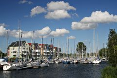 Sailing habour. On a nice summer's day Royalty Free Stock Photography