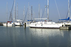 Sailing Harbor At Lake Balaton Royalty Free Stock Image