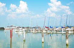 Sailing harbor in Badacsony at Lake Balaton,Hungar Stock Photos