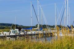 Sailing harbor of Vitte Stock Image