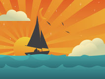 Sailing in Harmony. Vector illustration Royalty Free Stock Photos