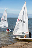 Sailing in Herne Bay Stock Photo