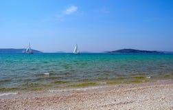 Sailing Holidays Croatia. Royalty Free Stock Photos