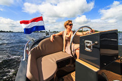 Sailing in Holland Royalty Free Stock Photos