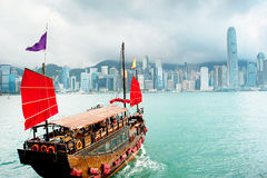 Sailing in Hong Kong Royalty Free Stock Images