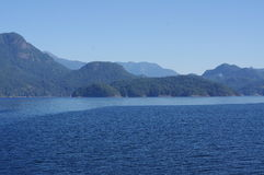 Sailing through the Howe Sound Royalty Free Stock Photography