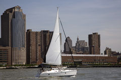 Sailing on the Hudson stock photos