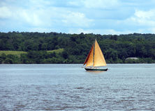 Sailing the Hudson royalty free stock photography
