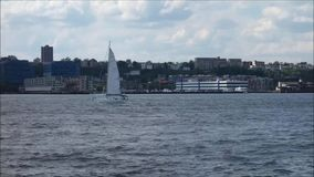 Sailing on the Hudson River Royalty Free Stock Photo