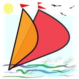 Sailing icon Royalty Free Stock Photos