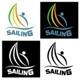 Sailing icon for sports competitions and water clubs. Vector ill. Ustration Stock Images