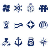 Sailing icons Royalty Free Stock Images