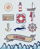 Sailing icons Royalty Free Stock Photos