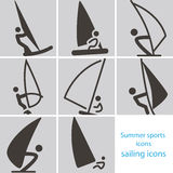 Sailing icons Stock Photo