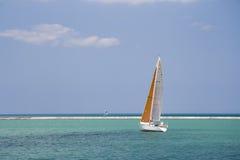Sailing II. Sail boat on Lake Michigan, Chicago Stock Photography