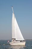 Sailing on the IJsselmeer in the Netherlands. On a beautiful sunny day Stock Photo
