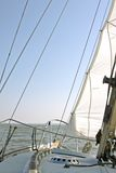 Sailing on the IJsselmeer in the Netherlands. On a beautiful sunny day Royalty Free Stock Photography