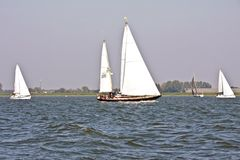 Sailing on the IJsselmeer in the Netherlands. On a beautiful sunny day Royalty Free Stock Images