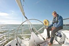 Sailing on the IJsselmeer in the Netherlands. In summer Stock Photos