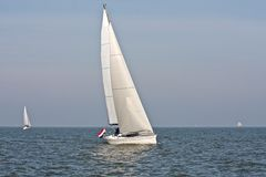 Sailing on the IJsselmeer in the Netherlands. Sailing on IJsselmeer in the Netherlands Stock Photography
