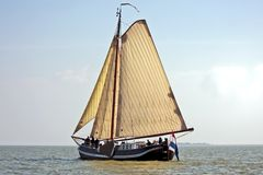 Sailing on the IJsselmeer in the Netherlands Stock Photography