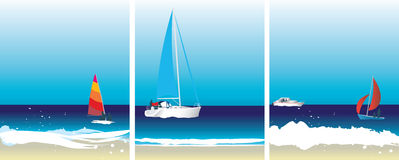 Sailing images Royalty Free Stock Photography