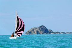 Sailing In Calm Water Stock Image
