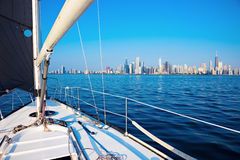 Sailing In Chicago Royalty Free Stock Images