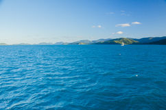 Sailing between the islands of the Whitsundays Stock Image