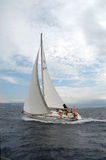 Sailing IV. Sailing boat on a cruise Stock Photos