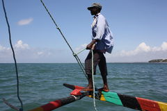 Sailing. Kenya. Royalty Free Stock Photos