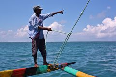 Sailing. Kenya. Stock Photos