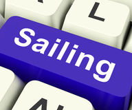 Sailing Key Means Voyage Or Travel By Water Stock Images