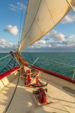 Sailing in the Keys Waiting for Sunset Stock Photography