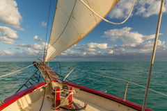 Sailing in the Keys Waiting for Sunset Stock Image