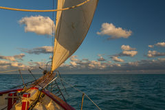 Sailing in the Keys Waiting for Sunset Royalty Free Stock Photography
