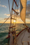 Sailing in the Keys Waiting for Sunset Stock Images
