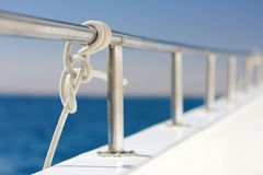 Sailing knot on boat Royalty Free Stock Images