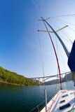 Sailing in the Krka River Stock Photos