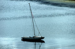 Sailing on the lake royalty free stock photography