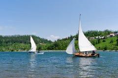 Sailing on the lake Bajer in Croatia Stock Photo