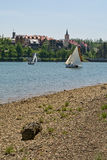 Sailing on the lake Bajer in Croatia Stock Photography
