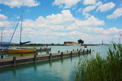 Sailing on Lake Balaton Royalty Free Stock Photo
