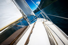 Sailing on the lake Royalty Free Stock Image