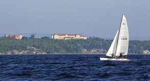 Sailing Lake Champlain off College Stock Image